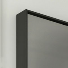 Black frame with smoked mirror