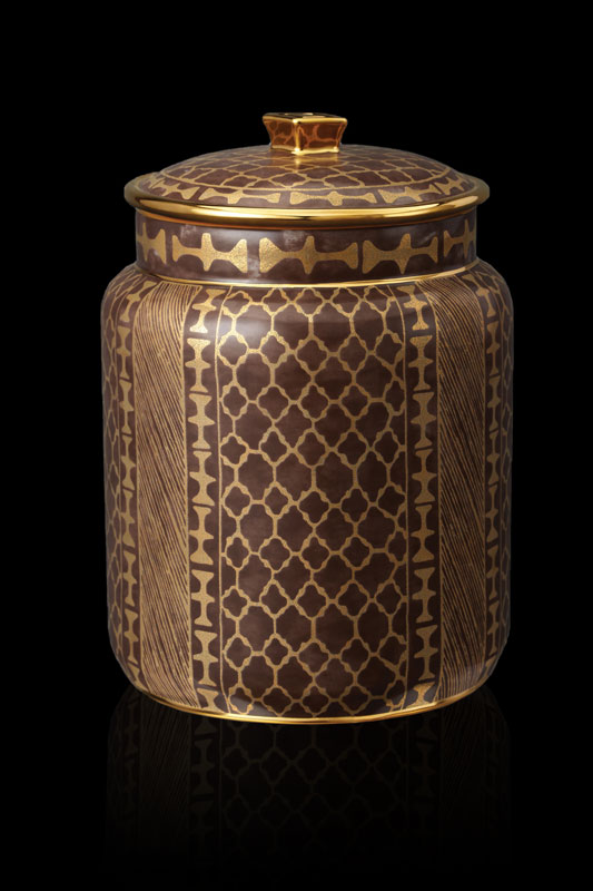 Fortuny tableware Ashanti brown medium canister
