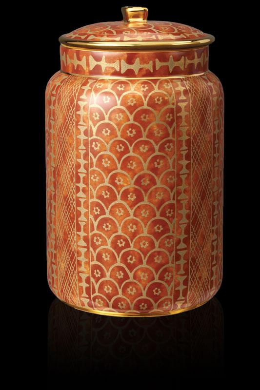 Fortuny tableware Ashanti orange large canister