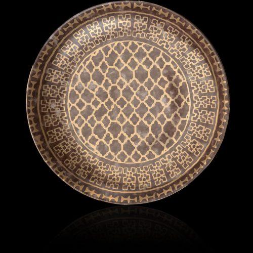 Fortuny Ashanti grey round large platter