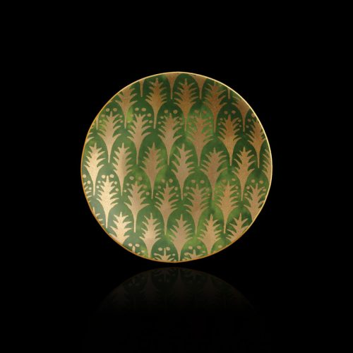 Fortuny Piumette green tableware canape plates set of 4