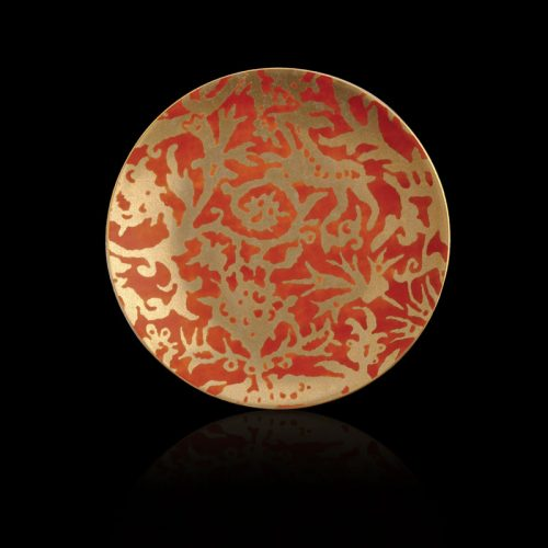 Fortuny Pergolesi orange tableware dessert plates set of 4