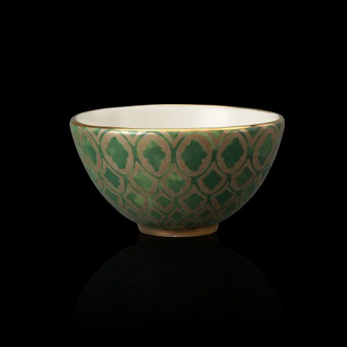 Fortuny tableware Peruviano green cereal bowl