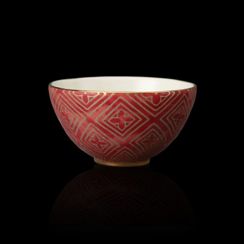 Fortuny tableware Jupon red cereal bowl