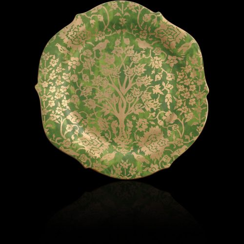 Fortuny Alberelli round green large platter