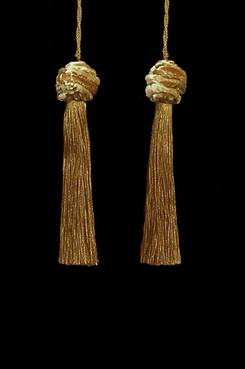 Venetia Studium Turbante couple of mustard tassels