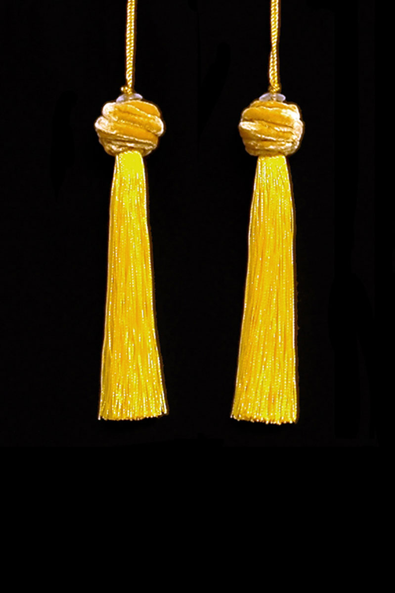 Venetia Studium Turbante couple of yellow tassels