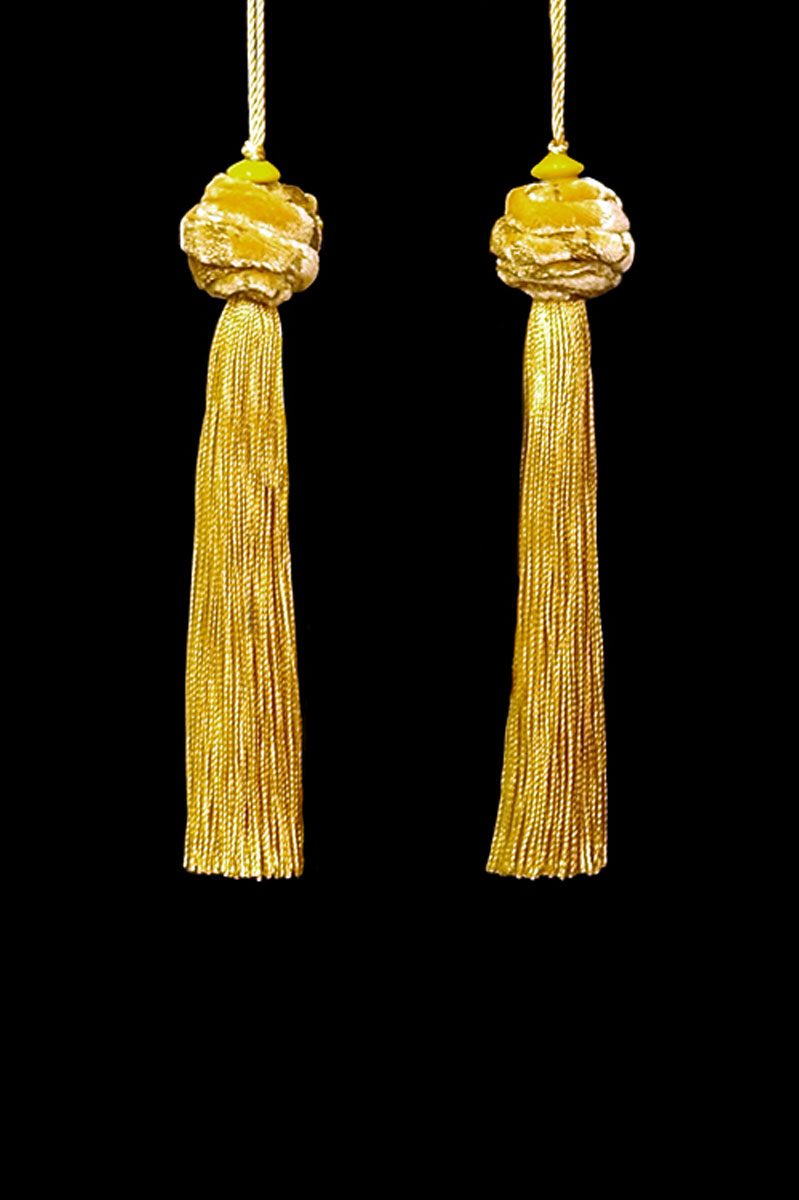 Venetia Studium Turbante couple of yellow gold tassels