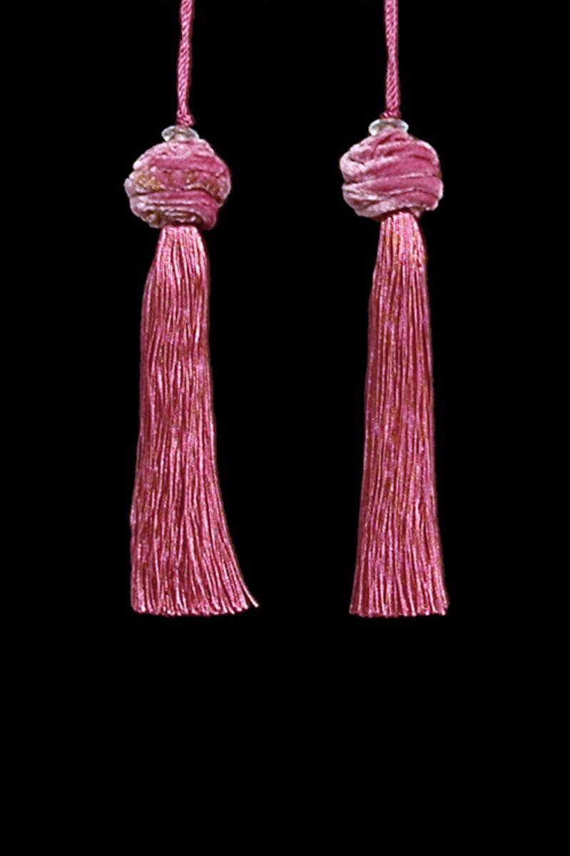 Venetia Studium Turbante couple of maroon key tassels
