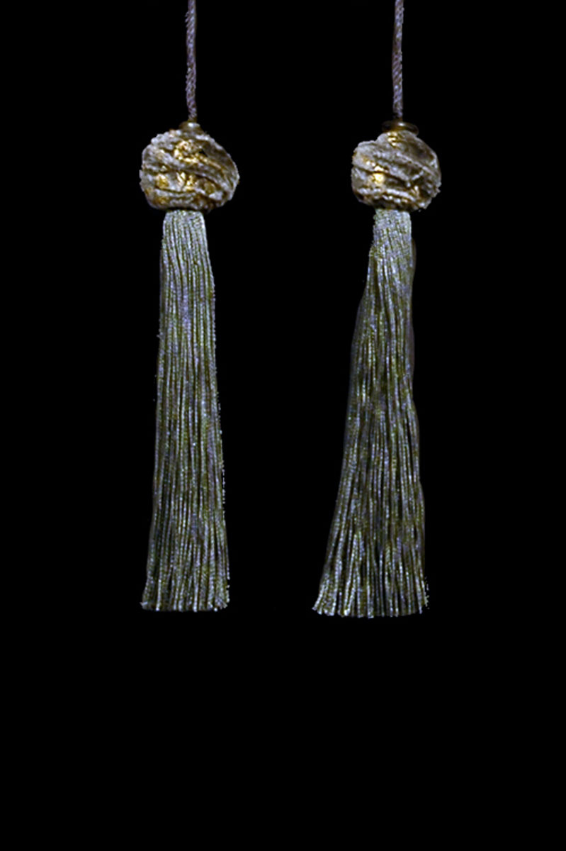 Venetia Studium Turbante couple of cast iron key tassels