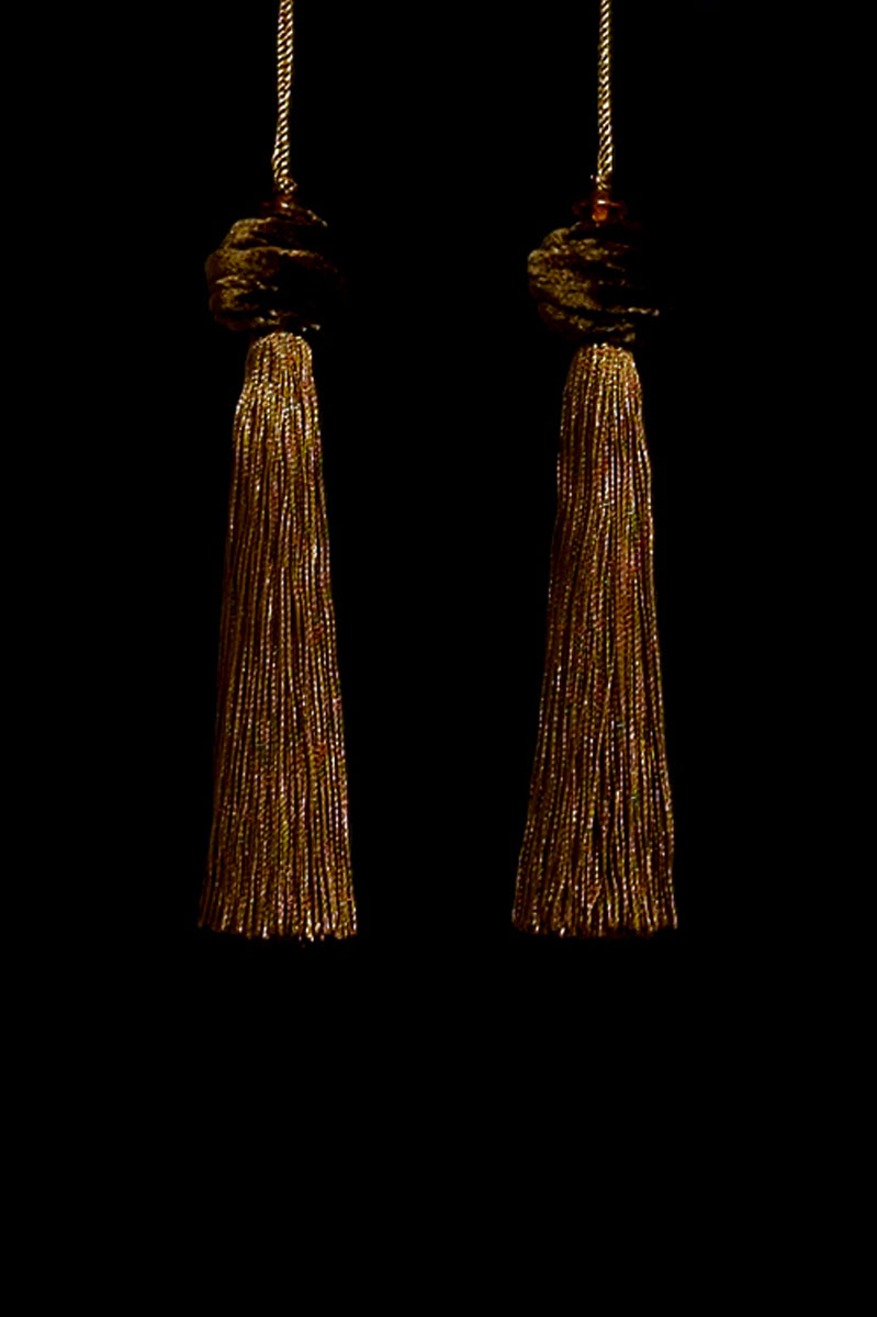 Venetia Studium Turbante couple of umber key tassels