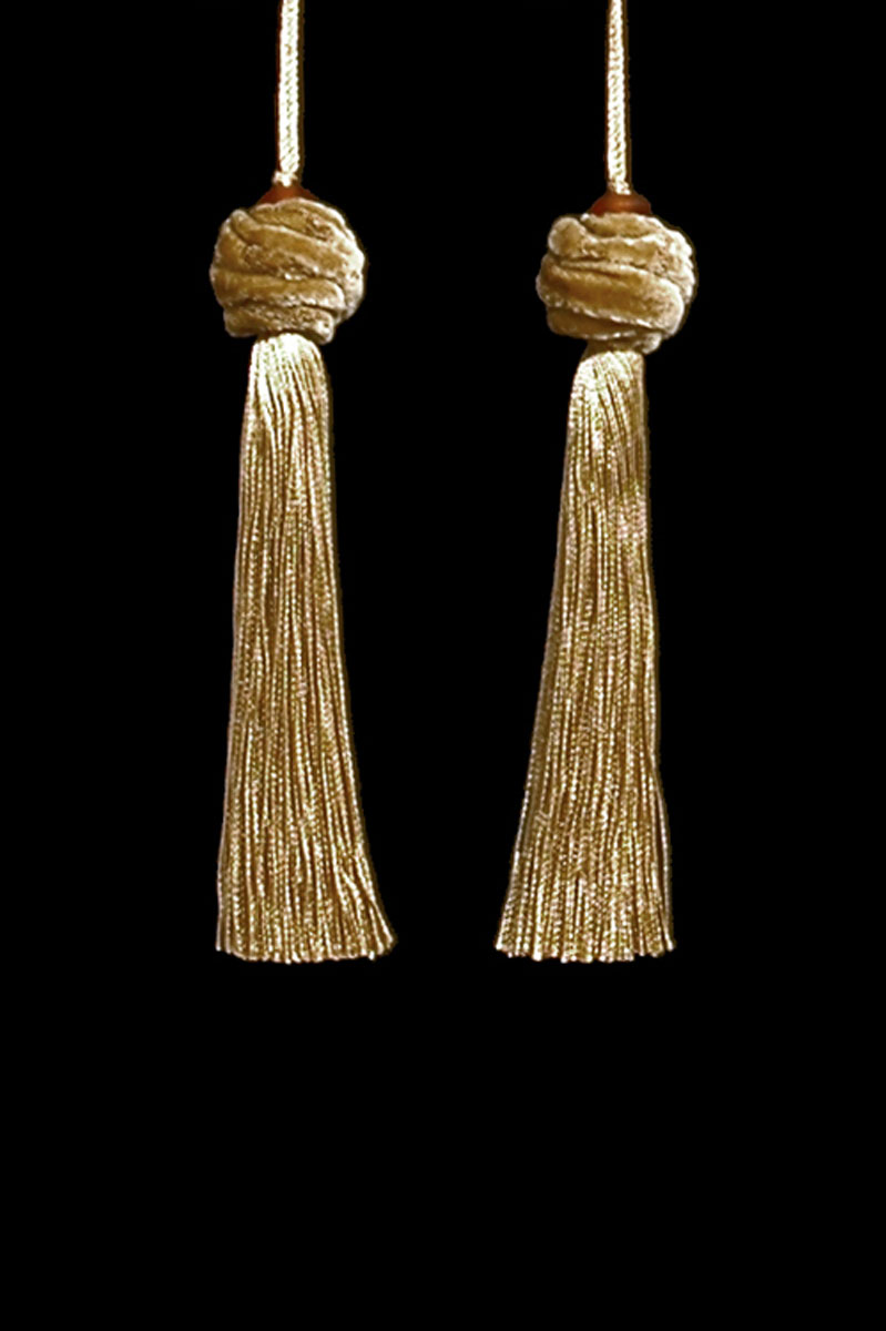 Venetia Studium Turbante couple of gold tassels
