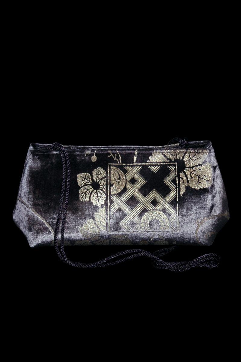 Fortuny Baguette velvet pochette bag
