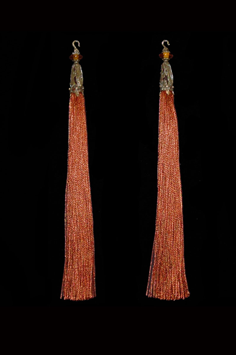 Venetia Studium couple of terracotta hook tassels