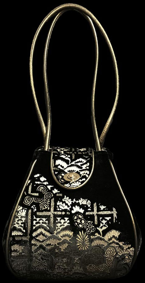 Fortuny Moretta printed velvet bag