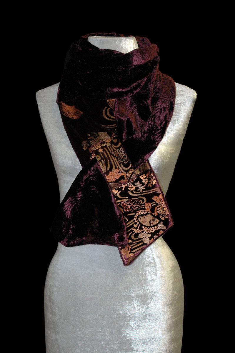 Fortuny printed velvet scarf