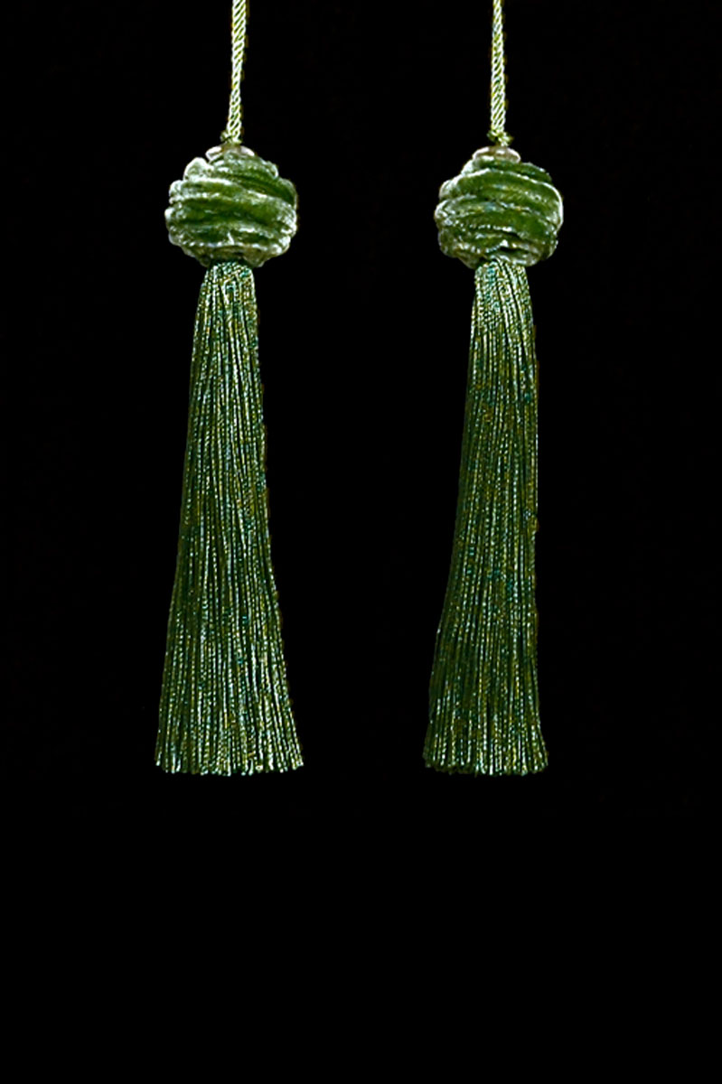 Venetia Studium Turbante couple of avocado key tassels