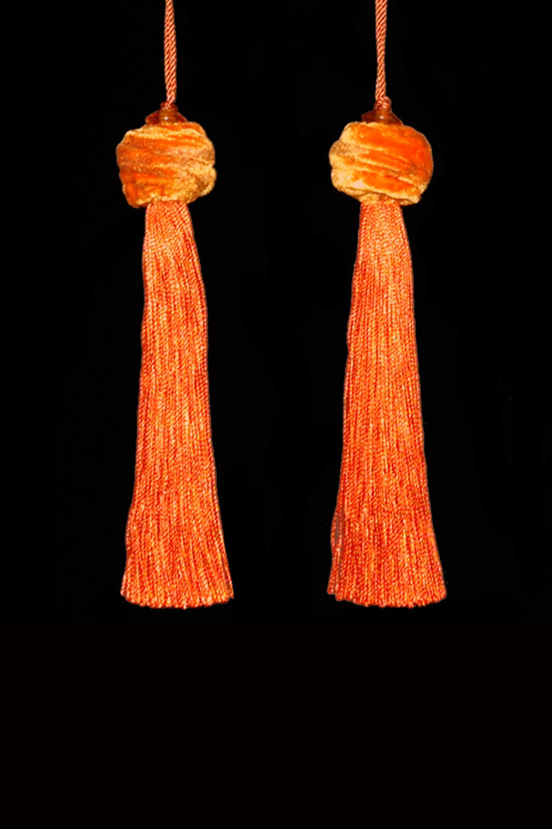 Venetia Studium Turbante couple of orange key tassels