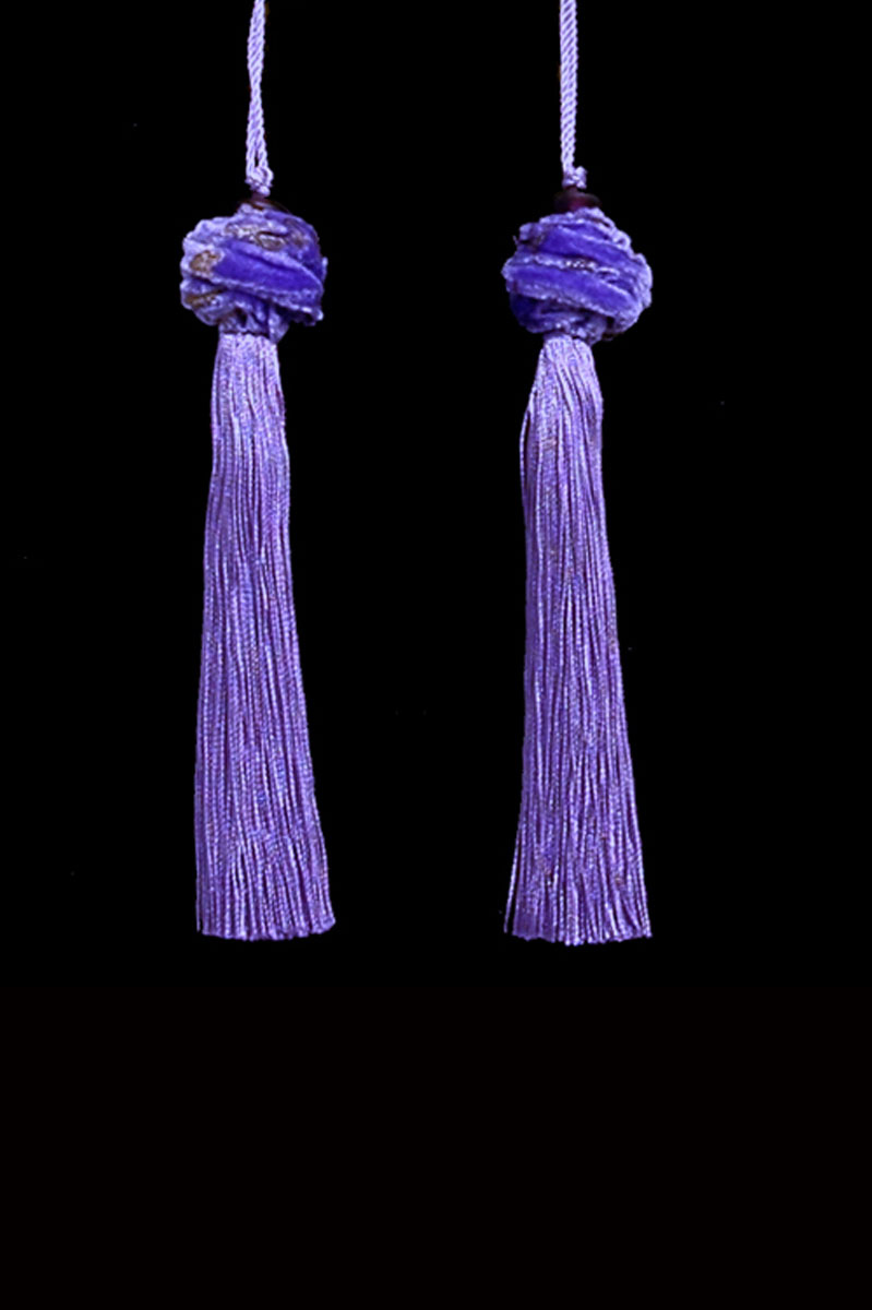 Venetia Studium Turbante couple of lavander key tassels