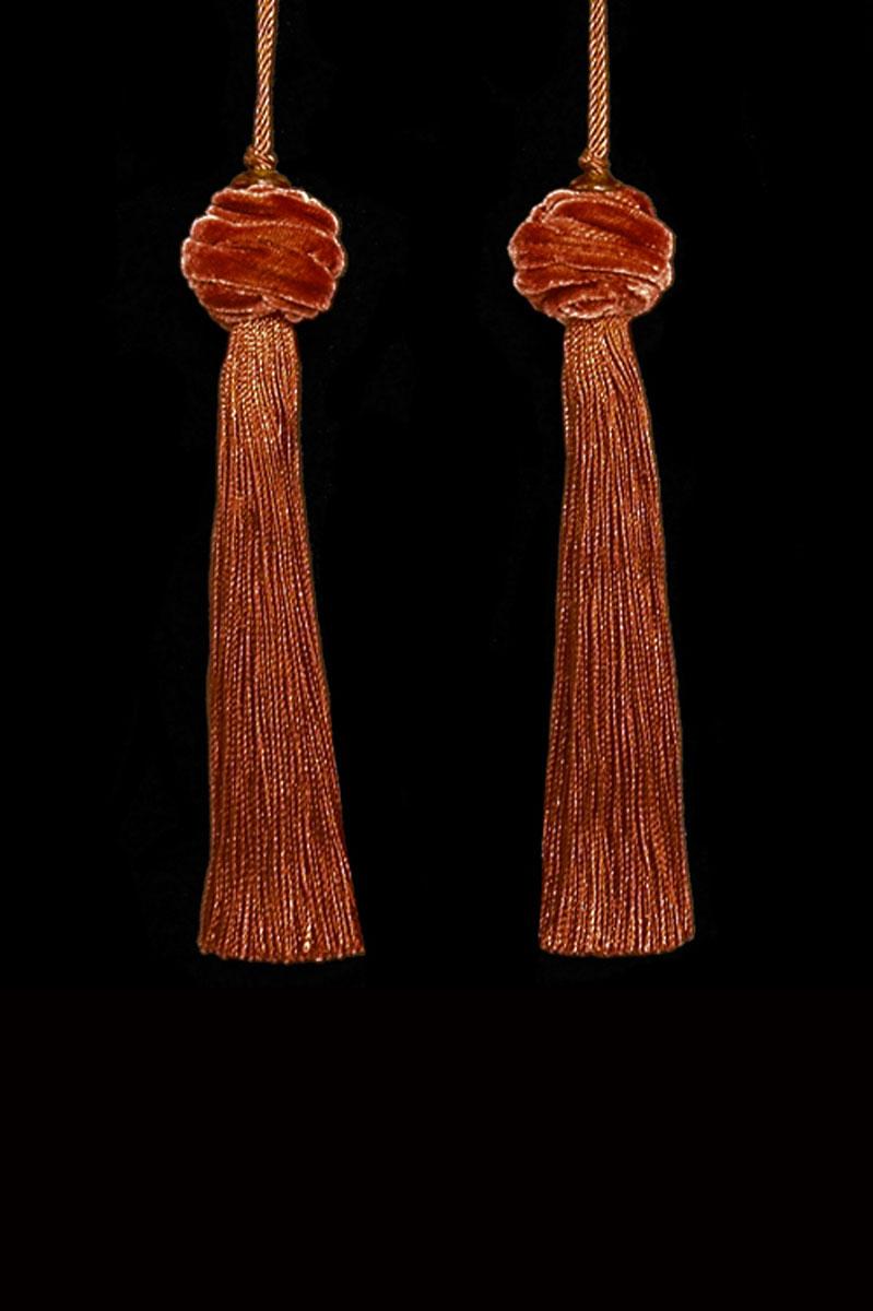 Venetia Studium Turbante couple of terracotta key tassels