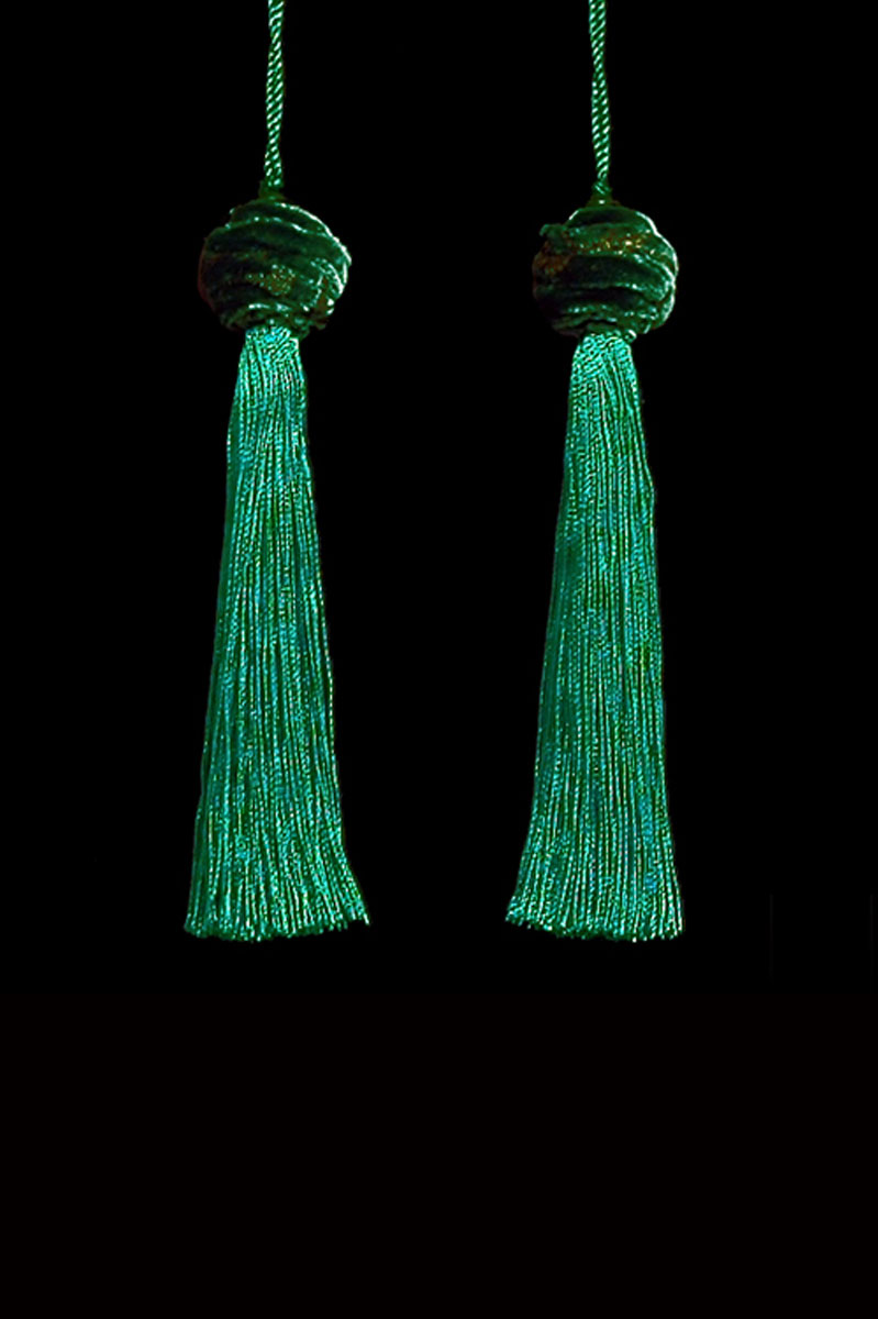 Venetia Studium Turbante couple of malachite key tassels