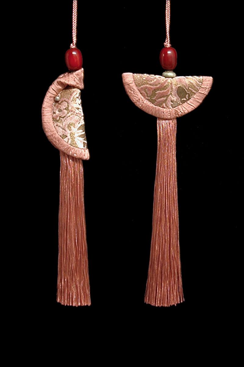 Venetia Studium couple of cork brown Geisha & Samurai key tassels