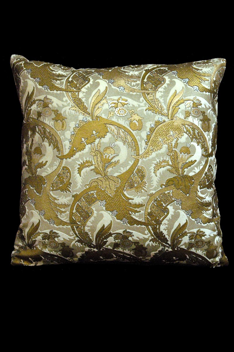 Venetia Studium Bizzarre ivory printed velvet cushion