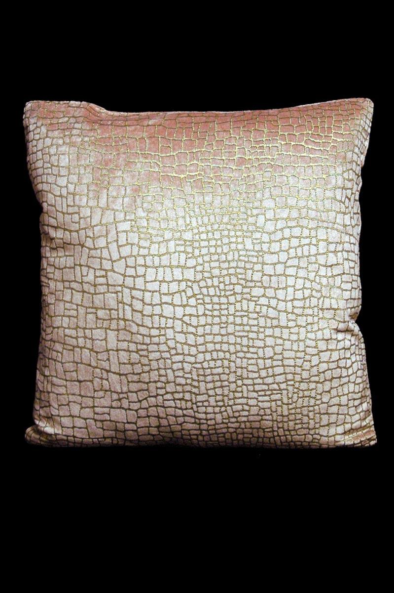 Venetia Studium Mosaico pink printed velvet square cushion front