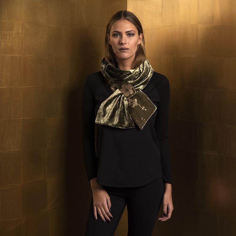 Fortuny printed velvet scarves