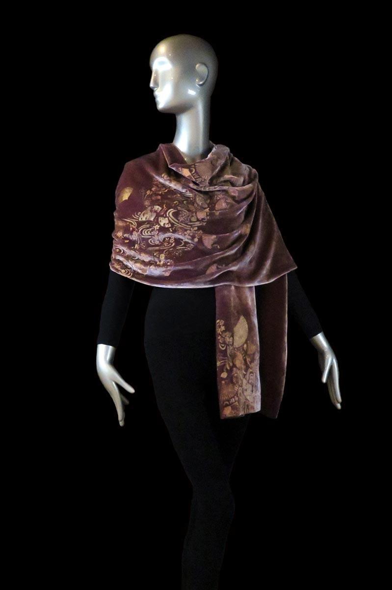 Fortuny printed velvet shawl