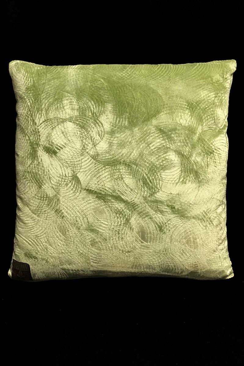 Venetia Studium light green printed velvet square cushion back