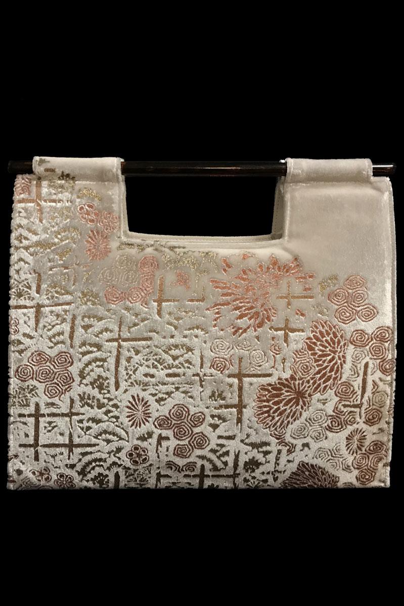 Fortuny Aiko white velvet bag