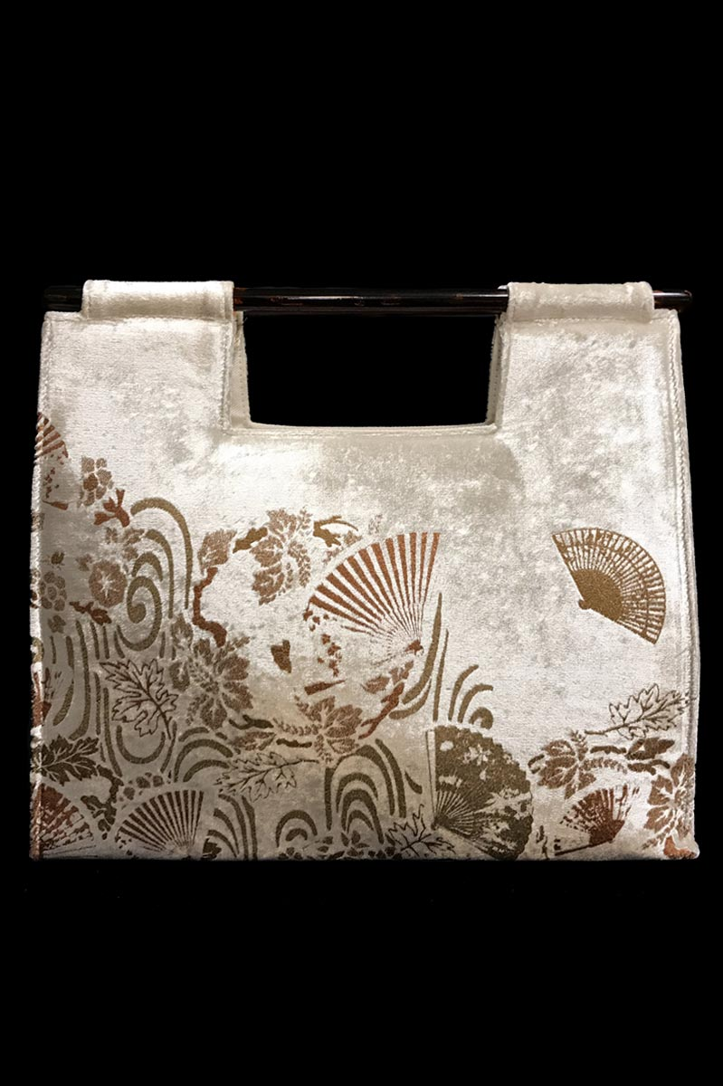 Fortuny Aiko white velvet bag