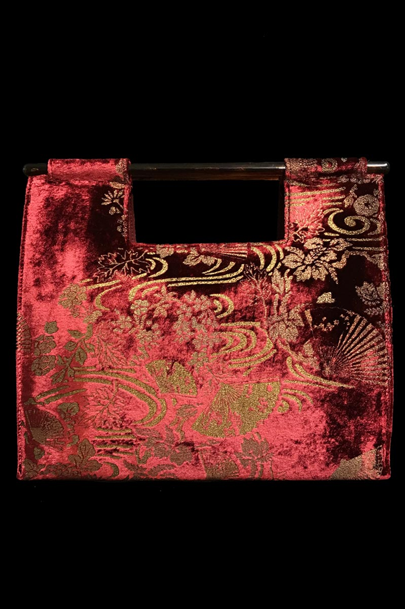 Fortuny Aiko rubin red velvet bag