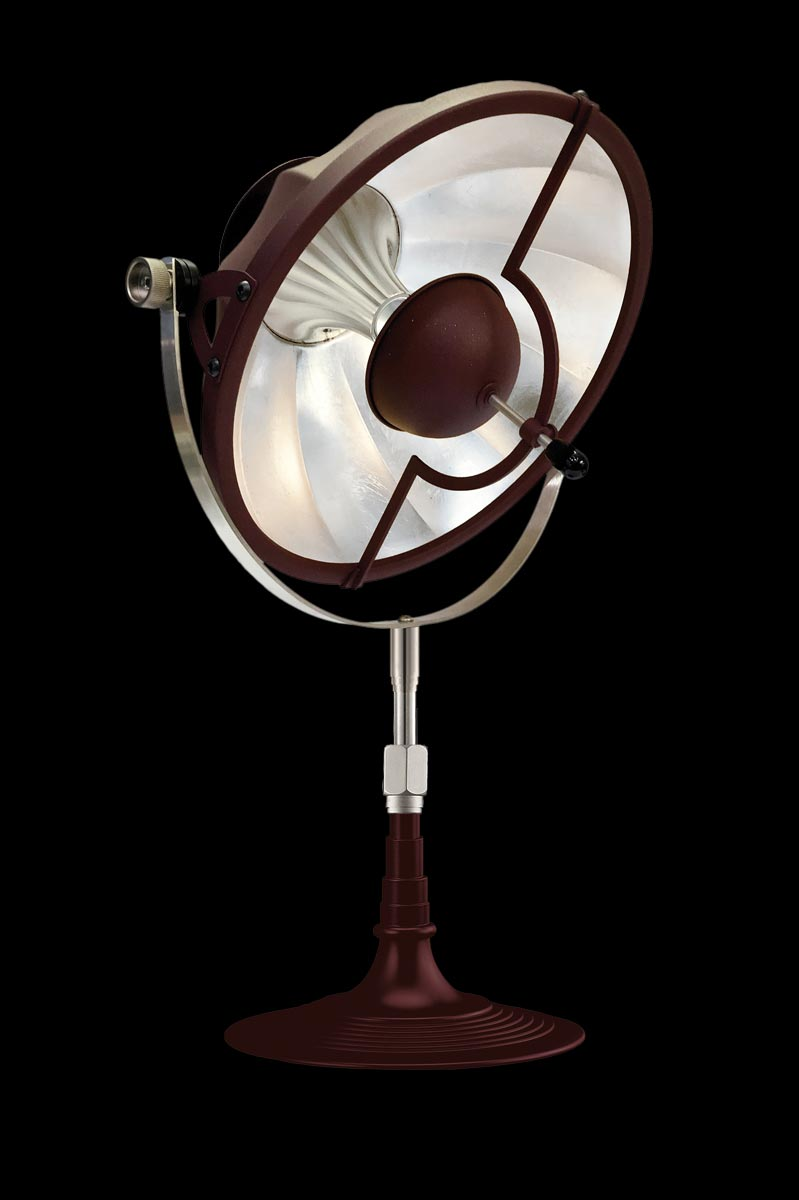 Fortuny Armilla 32 table lamp red and silver leaf