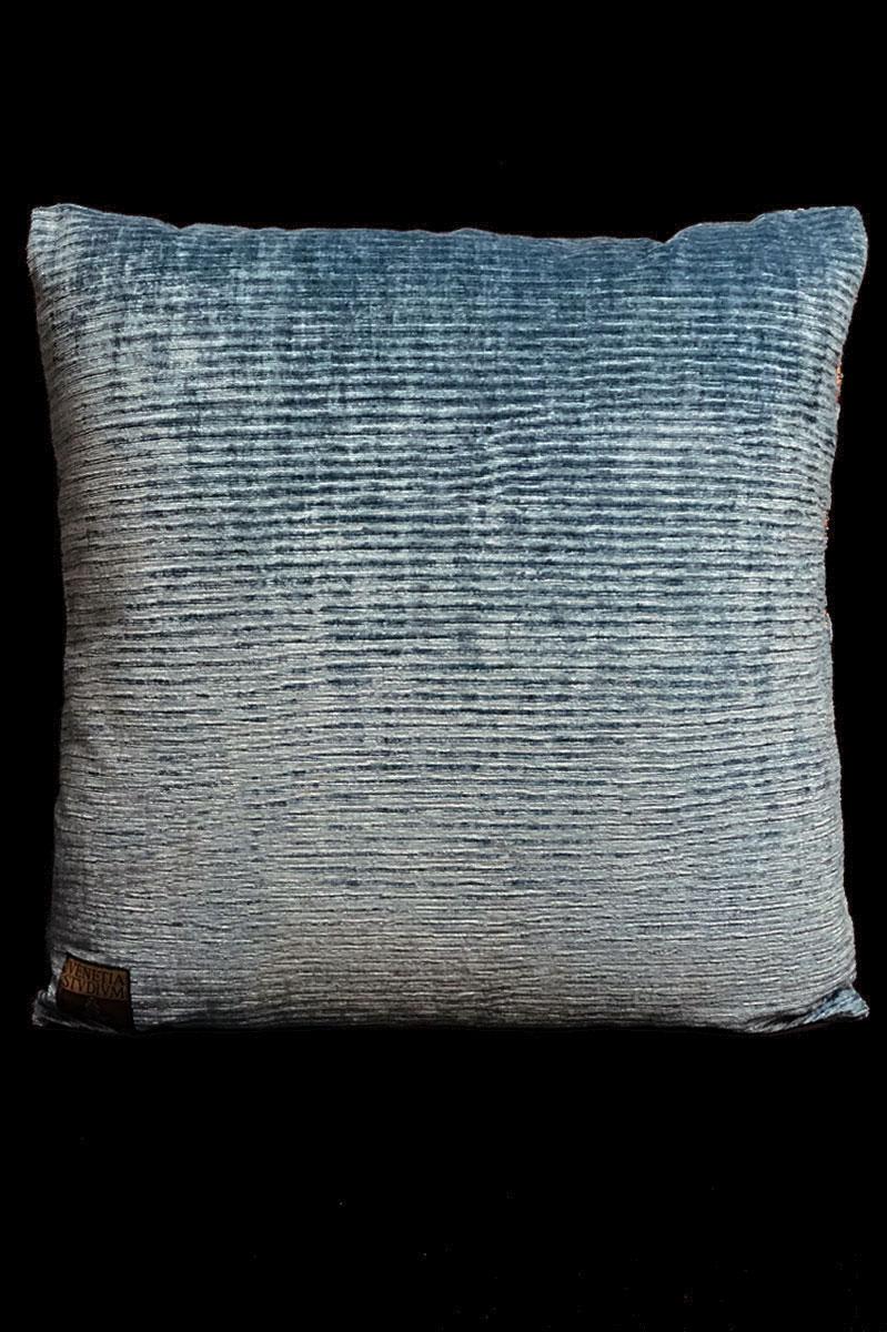 Venetia Studium Glicine printed velvet cushion back