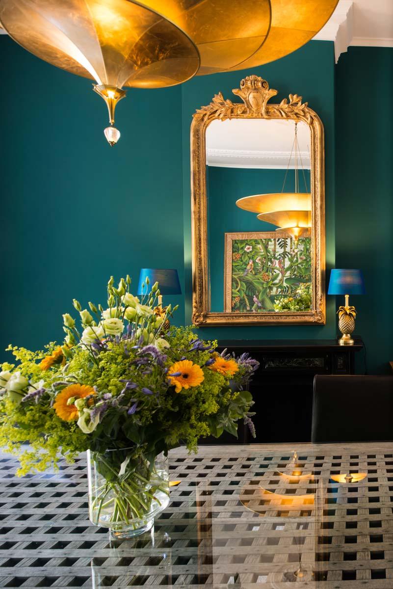 Fortuny Icaro chandelier lamp gold leaf - F. Premier